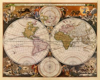 New World Map, 17th Century