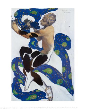 Vaslav Nijinsky in 'L'Apres Midi d'un Faun'