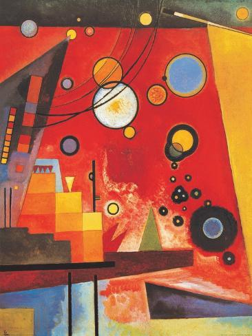 Heavy Red Posters By Wassily Kandinsky At Allposters Com