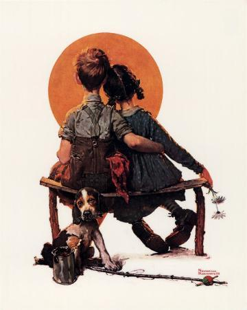 Norman Rockwell - First Love