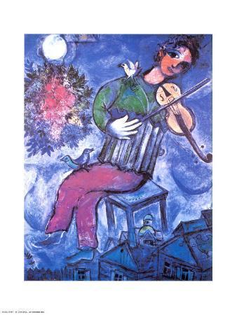 Violoniste Bleu