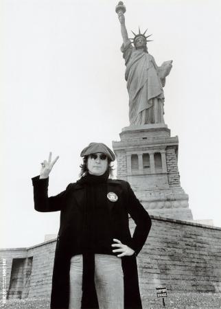 John Lennon at The Statue of Liberty