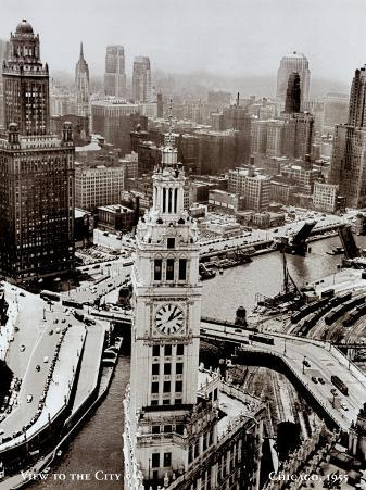 Chicago, Illinois, View to the City, 1955