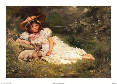 Girl with Her Pet