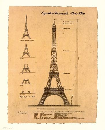 Eiffel Tower, Exposition, 1889