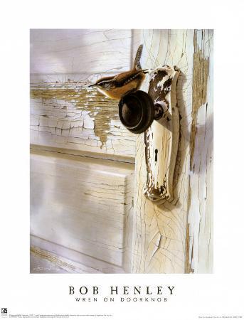 Wren on the Doorknob