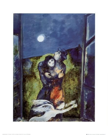 Lovers In Moonlight Prints Marc Chagall Allposters Com
