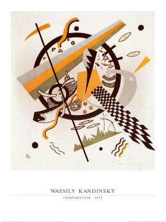 Komposition mit Schachbrettstreifen, 1922
