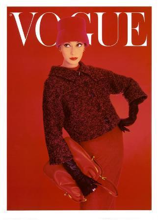 Vogue Cover, Autumn Fuchsia, 1957