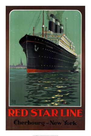 Red Star Line, Cherbourg to New York
