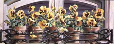 Yellow Pansies
