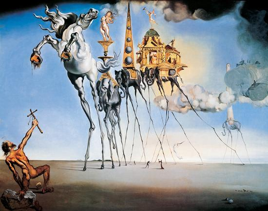 the temptation of st anthony c 1946 print by salvador dalí at