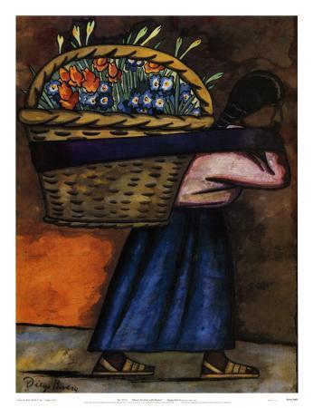 Flower Vendor with Basket