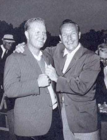 Jack Nicklaus and Arnold Palmer at 1965 Masters