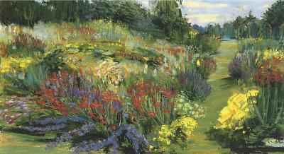 Garden with Red and Purple