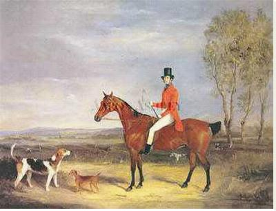 Gentleman Out Hunting with His Dogs