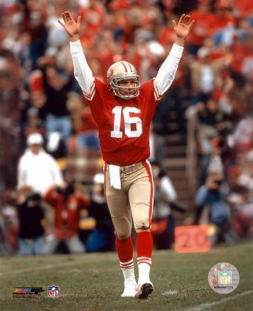 Joe Montana - celebrating touchdown