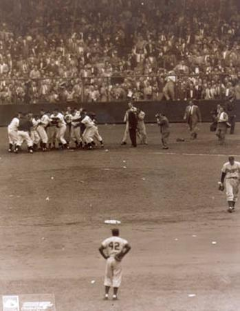 Bobby Thomson - 1951 Home Run Celebration (at home plate)