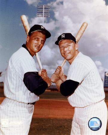 Mickey Mantle and Roger Maris- Blue Sky
