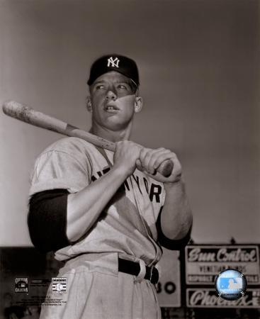 Mickey Mantle- With bat looking towards his right