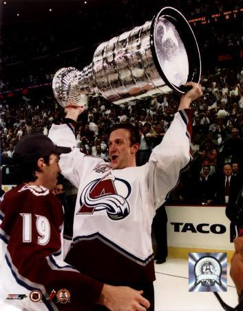 Rob Blake - with Stanley Cup 6/9/01