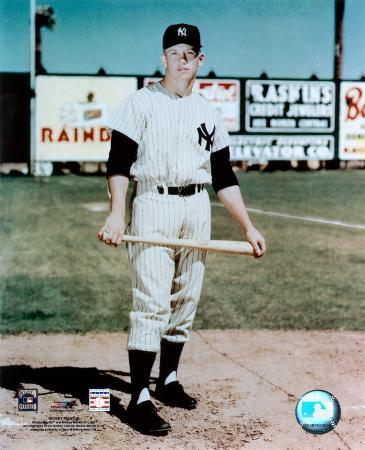 Mickey Mantle - #13 Holding Bat (young)