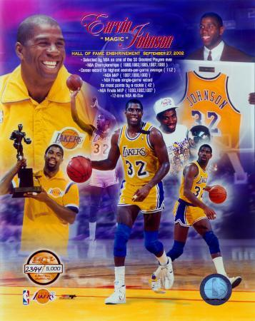 Magic Johnson Hall of Fame PF Gold Composite