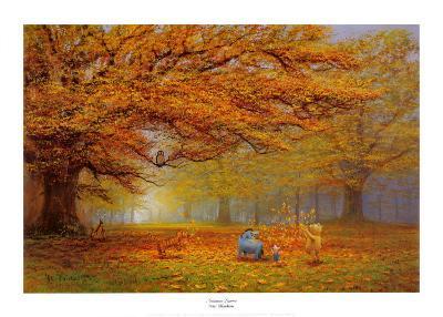 Winnie the Pooh - Autumn Leaves