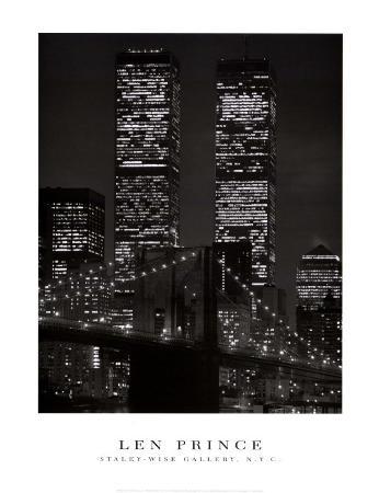 World Trade Center with Brooklyn Bridge, 2001