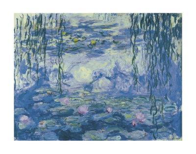 Water Lilies and Willow Branches