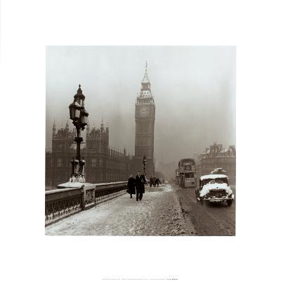 Big Ben, Winter in London, 1955