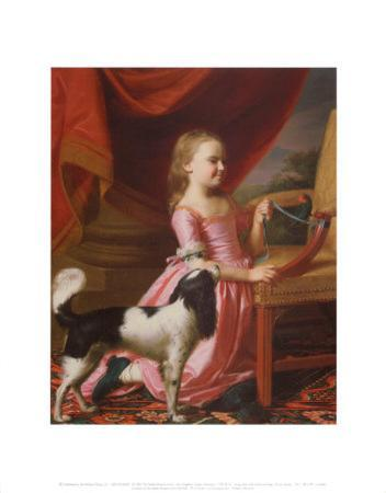 Young Lady with a Bird and Dog, 1767