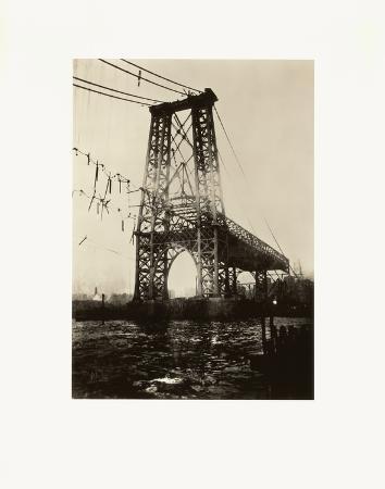 Construction of New York Tower of Williamsburg Bridge