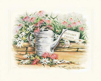 Watering Can and Daisies