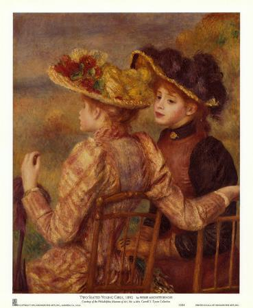 Two Seated Young Girls