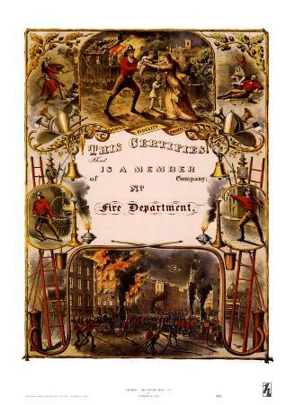 Certificate of Membership, Fire Department, 1877