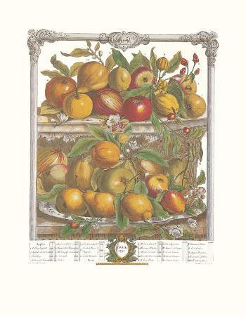 Twelve Months of Fruits, 1732, April