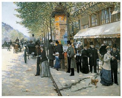 Paris on the Boulevard, 1890