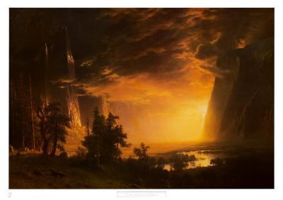 Sunset in the Yosemite Valley, 1868