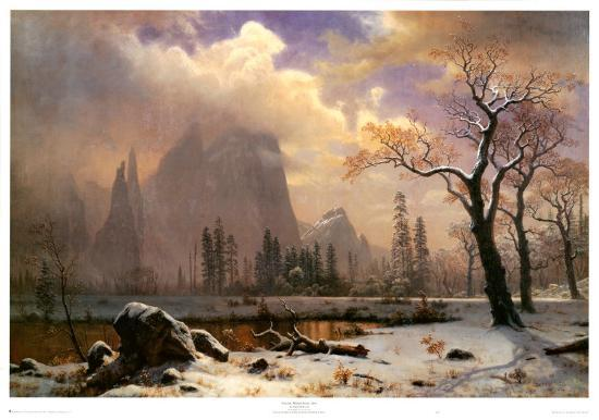yosemite winter scene print by albert bierstadt at allposters com