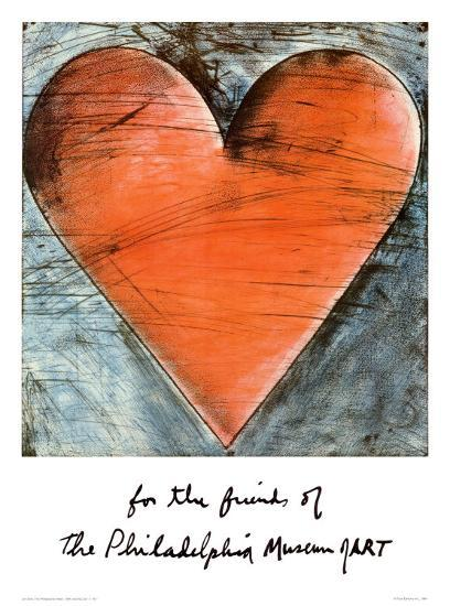The Philadelphia Heart Poster By Jim Dine At Allposters Com