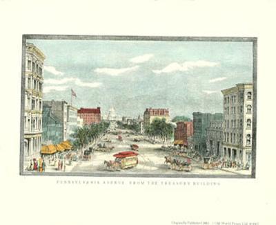 Washington D.C., Pennsylvania Avenue from the Treasury Building