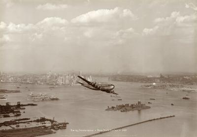 Boeing Stratocruiser, New York Harbor, 1949