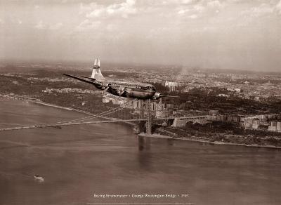 Boeing Stratocruiser, George Washington Bridge, 1949