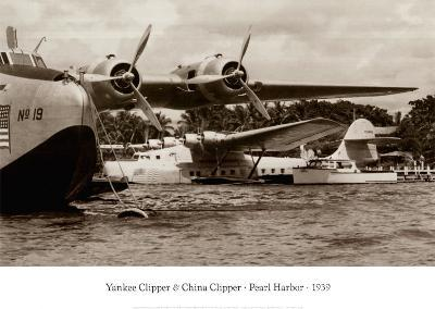 Yankee Clipper and China Clipper, Pearl Harbor, Hawaii 1939