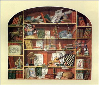 Trompe l'Oeil of a Bookcase