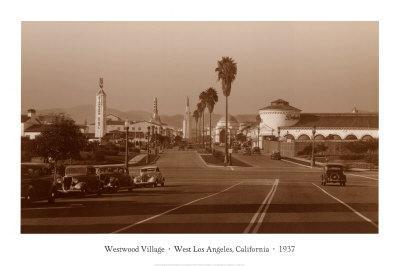 Westwood Village, West Los Angeles, California, 1937