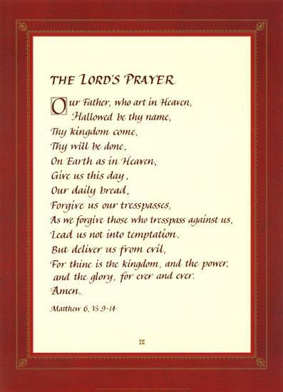 548f3a7150af3 The Lord's Prayer Print at AllPosters.com