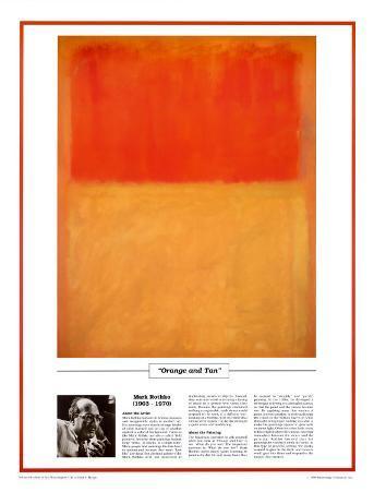 Twentieth Century Art Masterpieces -Mark Rothko - Orange and Tan