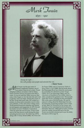 American Authors of the 19th Century - Mark Twain